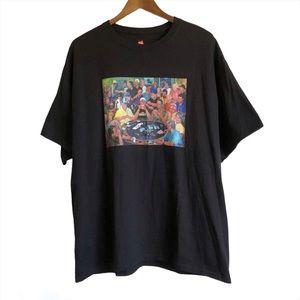 VINTAGE HANES Willie Nelson Poker Tee Shirt Black